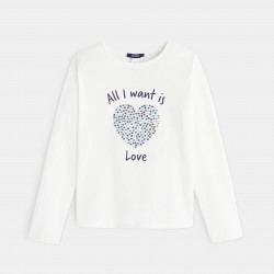 """T-shirt à message """"All I want is... Love"""""""